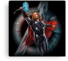 Thor - charging hammer Canvas Print