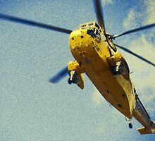 Sea King helicopter fly over by ElviraTSquirrel