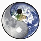 yin yang earth moon by redboy