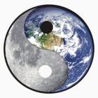 yin yang earth moon by redboy