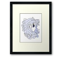 The Purple Haired Person Framed Print