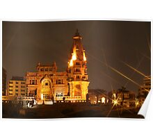 Night View for Baron Palace, Cairo, Egypt Poster