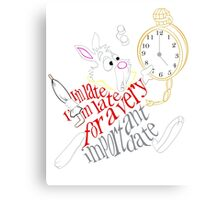 White Rabbit - I'm Late... Canvas Print
