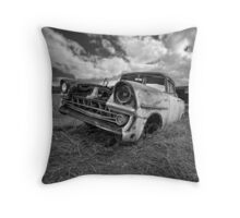 Car Graveyard - Morgan, SA Throw Pillow