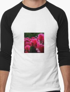 pink beautiful smell flowers Men's Baseball ¾ T-Shirt