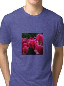 pink beautiful smell flowers Tri-blend T-Shirt