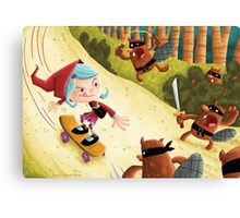 Red's Forest Delivery Service Canvas Print