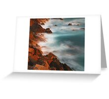 beautiful rocky water hills Greeting Card