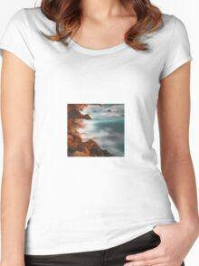 beautiful rocky water hills Women's Fitted Scoop T-Shirt