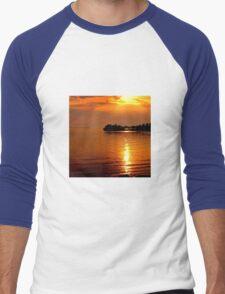 beautiful natural summer sunset Men's Baseball ¾ T-Shirt