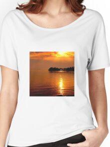 beautiful natural summer sunset Women's Relaxed Fit T-Shirt