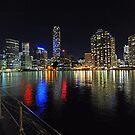 Brisbane City At Night,. Queensland, Australia. by Ralph de Zilva