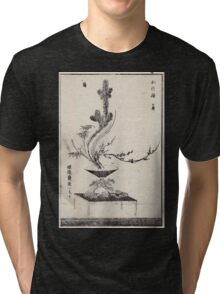 Shofu Enshuryu ikebana hamana no umi Flower Arrangement Toto Shoshi V3 1835 0020 Tri-blend T-Shirt