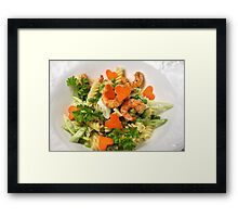 With Passion and Parsley Framed Print