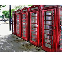 Red Phone Boxes ~ HDR Photographic Print