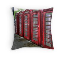 Red Phone Boxes ~ HDR Throw Pillow