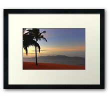 Strand Sunset-HDR Framed Print