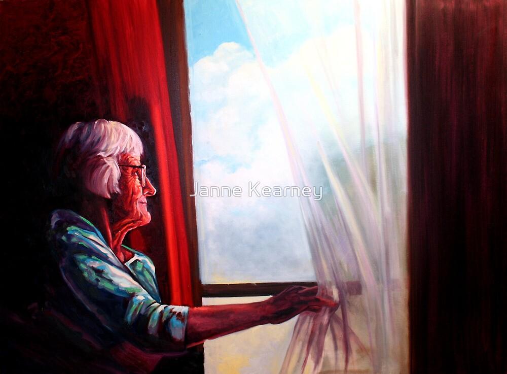 The window watcher by Janne Kearney