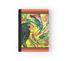 Scarf - Raven red background Hardcover Journal