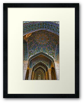 Vakil Mosque Main Entrance - Shiraz - Iran by Bryan Freeman