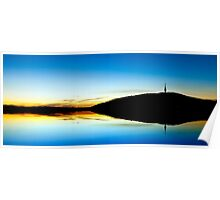 Canberra Sunset silouhette Poster