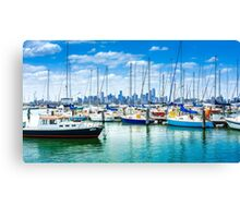 Melbourne Skyline from Williamstown Canvas Print