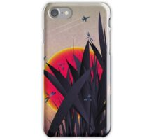 Red Heat (with Dragonflies) iPhone Case/Skin