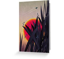 Red Heat (with Dragonflies) Greeting Card