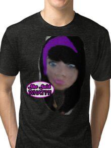 She Said WHAT??!! Tri-blend T-Shirt