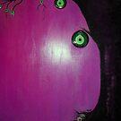 evil eyes beat tree purple by tulay cakir