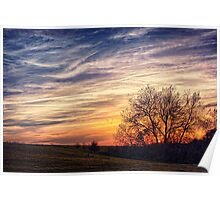 Sunset on A Painted Sky Poster