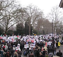 Gaza rally in London 2009 by jajasmin