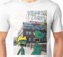 ZEEK from Mars & Nurdy from Venus visit Old Town Portland Unisex T-Shirt