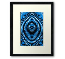 Illuminati Blue Framed Print