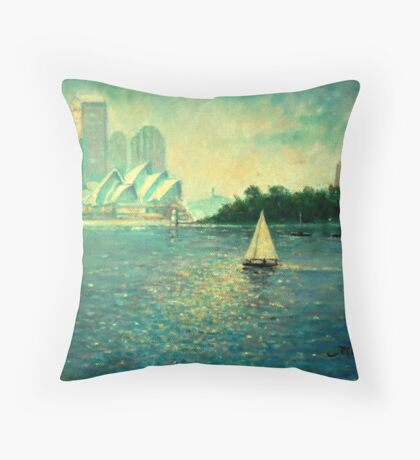 Into the Light - Sydney Harbour  Throw Pillow
