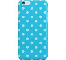 Teal Blue Polka Dots iPhone Case/Skin
