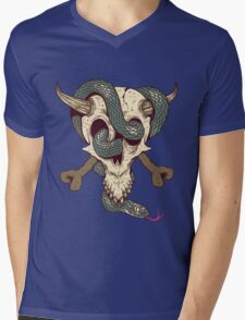 old skull Mens V-Neck T-Shirt