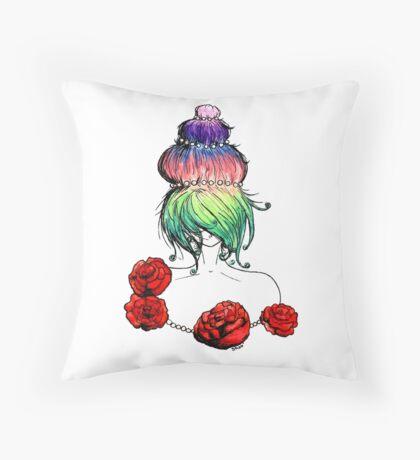 Cupcake princess or Marie-Antoinette Throw Pillow