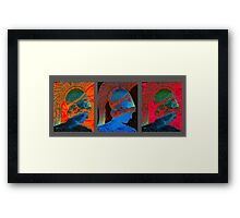 4093 - Bust Triptych Framed Print