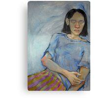 Blind Girl. Canvas Print