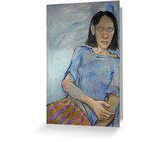 Blind Girl. Greeting Card