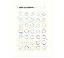 Infographic Weather Radials 2013 Art Print