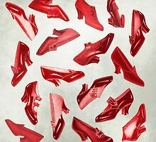 Souvenir of Oz. Vintage Red Shoes by Eva Nev