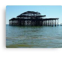 Skeleton of West Pier, Brighton Canvas Print
