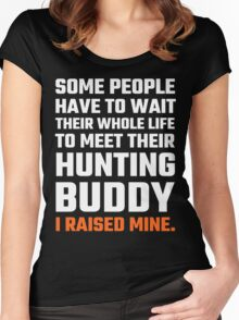 Hunting Buddy Father Son Women's Fitted Scoop T-Shirt