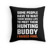 Hunting Buddy Father Son Throw Pillow