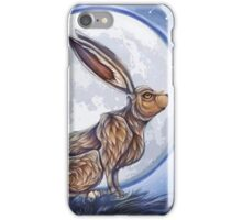 Hare under the moon iPhone Case/Skin