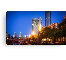 The Flames at Crown by the Yarra Canvas Print