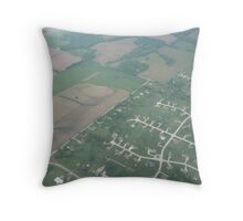 Urban Meets Farmland Throw Pillow