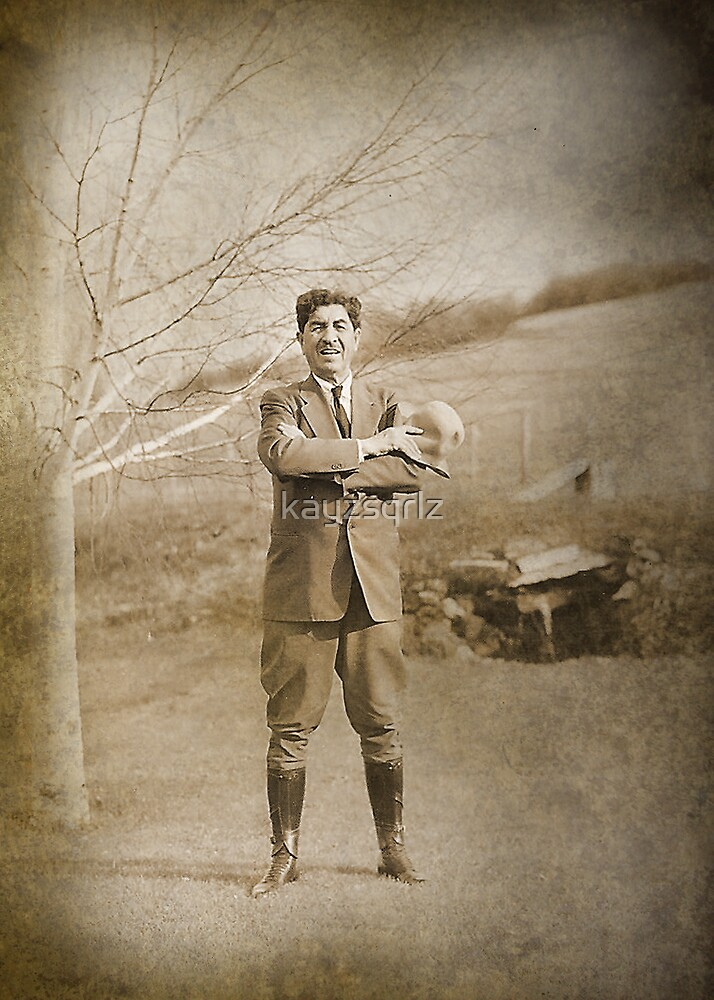 Laced Boots and Jodhpurs by Kay Kempton Raade